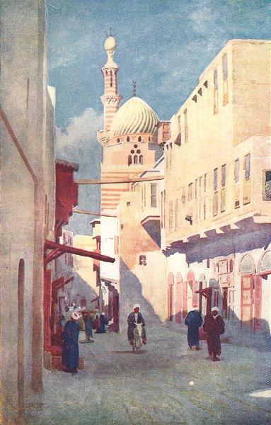 Associate Product EGYPT. The Sais Mosque, Cairo 1912 old antique vintage print picture