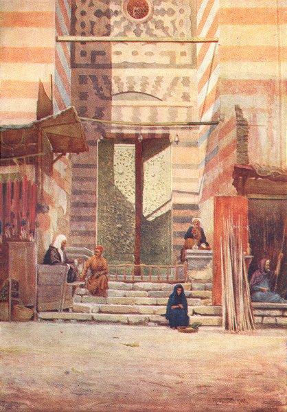 Associate Product EGYPT. The bronze doors of El-Maristan El-Kelaun 1912 old antique print