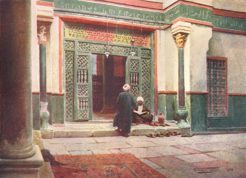 Associate Product EGYPT. Grill in the Mosque of the Sultan Kelaun 1912 old antique print picture