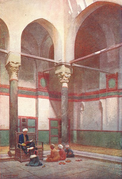 Associate Product EGYPT. Sebeel of the Mosque of the Sultan Kelaun 1912 old antique print