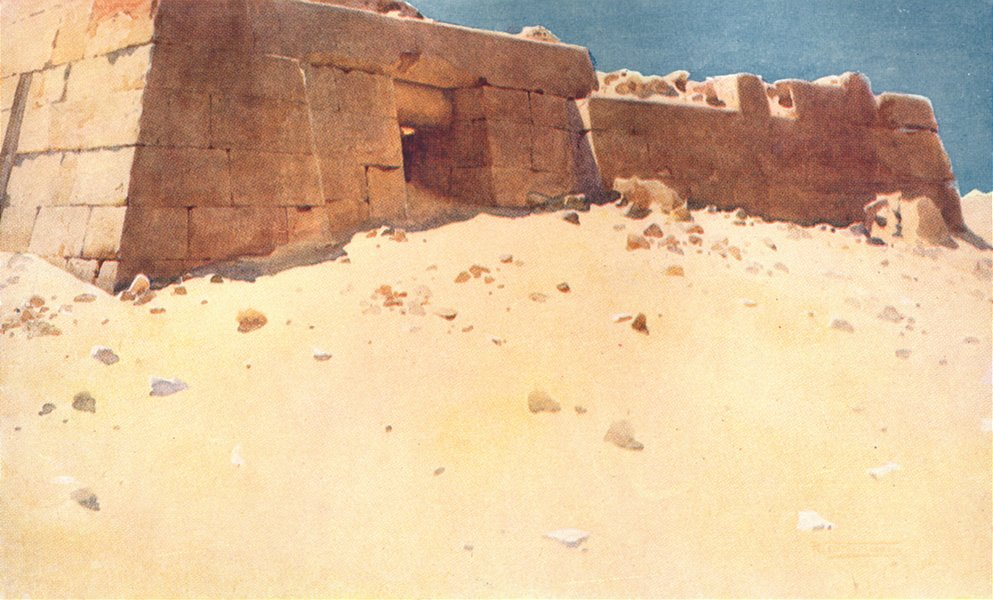 Associate Product EGYPT. Mastaba below the second pyramid 1912 old antique vintage print picture