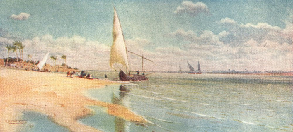 Associate Product EGYPT. A Breezy day at Ayat 1912 old antique vintage print picture