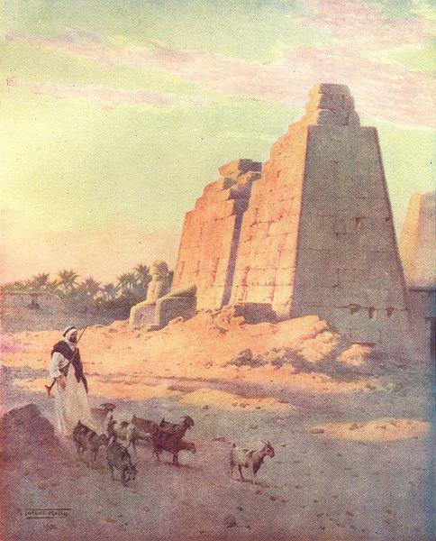 Associate Product EGYPT. Pylon at Karnak 1912 old antique vintage print picture