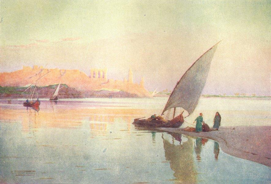 EGYPT. Kom Ombos 1912 old antique vintage print picture