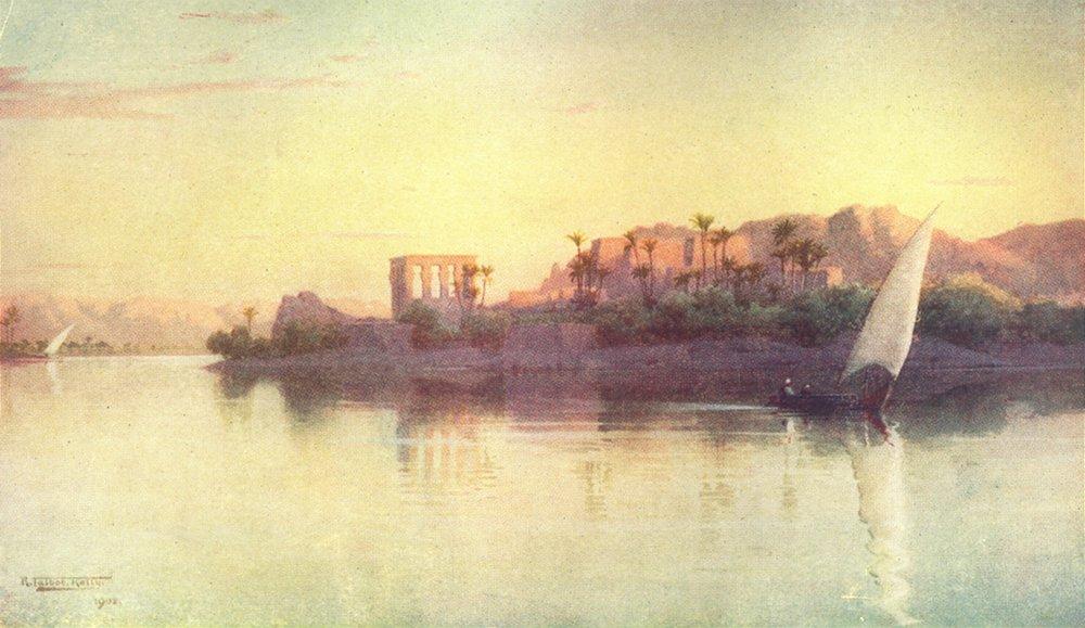 Associate Product EGYPT. Philae 1912 old antique vintage print picture