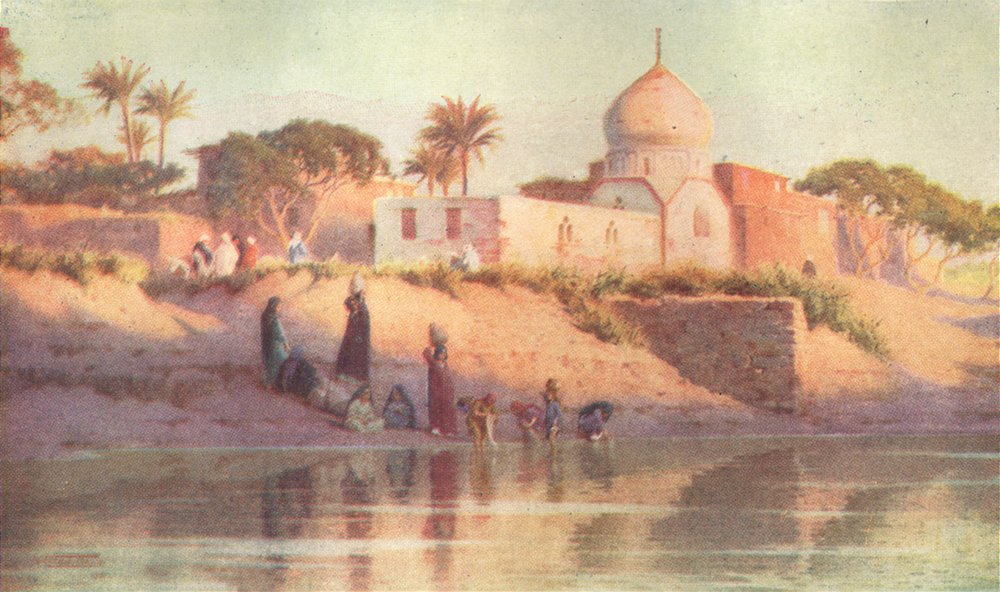 Associate Product EGYPT. Village of Shinbab on the Lower Nile 1912 old antique print picture