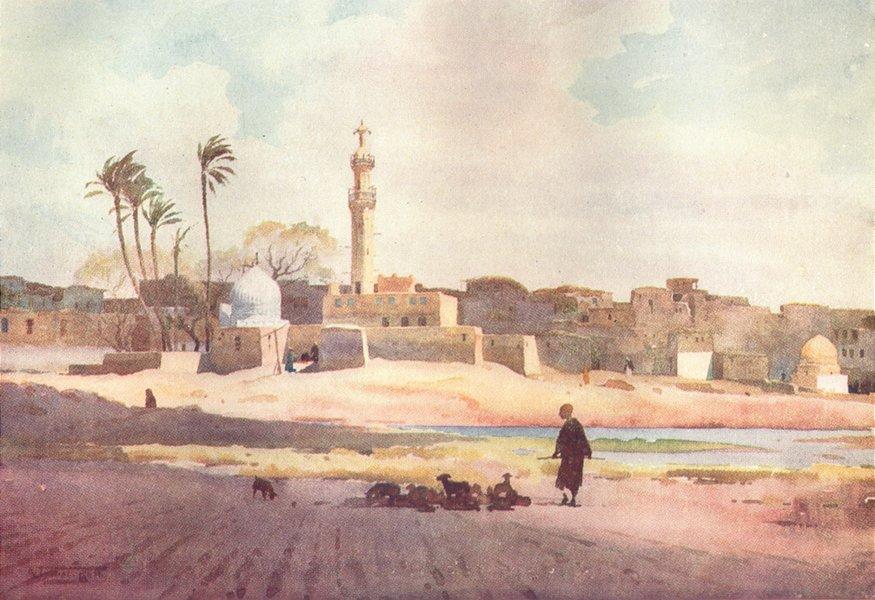 Associate Product EGYPT. The Village of Salamun 1912 old antique vintage print picture