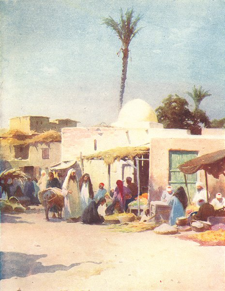 Associate Product EGYPT. A corner in the Market-Place 1912 old antique vintage print picture