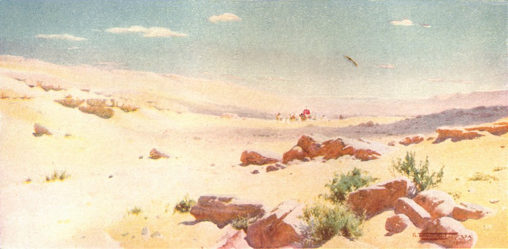 """Associate Product EGYPT. """"In a barren & dry land, where no water is"""" 1912 old antique print"""
