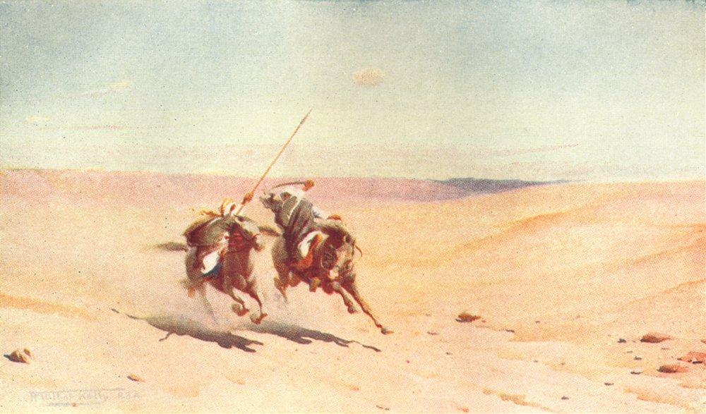 Associate Product EGYPT. A Duel 1912 old antique vintage print picture