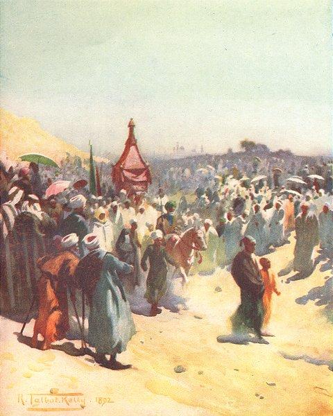 Associate Product EGYPT. Return of Mahmal 1912 old antique vintage print picture