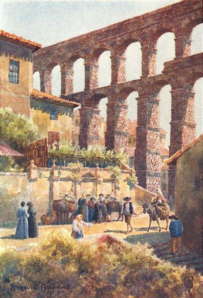Associate Product SPAIN. Segovia. Aqueduct 1906 old antique vintage print picture