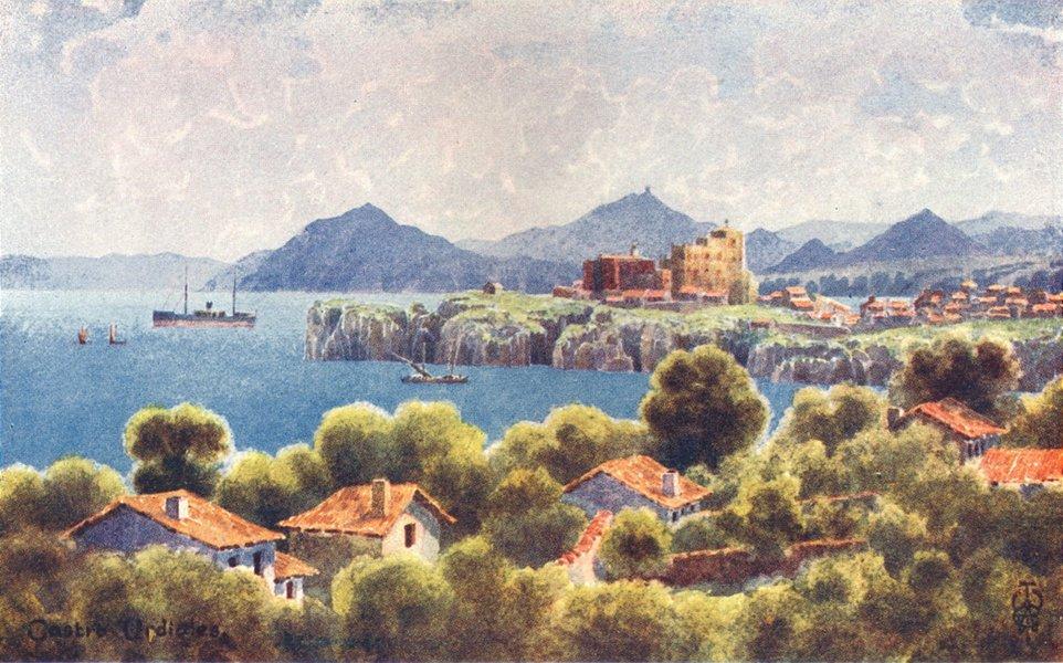 Associate Product SPAIN. Castro Urdiales. Bilbao Coastline 1906 old antique print picture