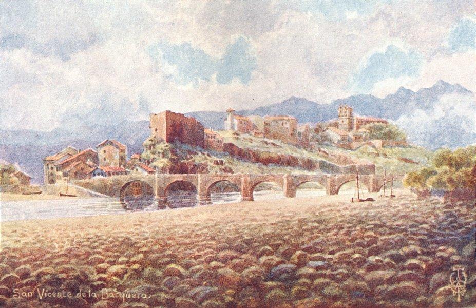 Associate Product SPAIN. San Vicente de Barquera 1906 old antique vintage print picture
