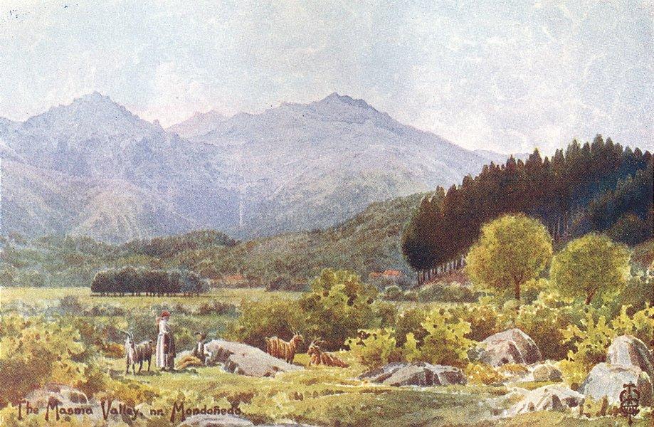 Associate Product SPAIN. Masma Valley. Mondofiedo 1906 old antique vintage print picture