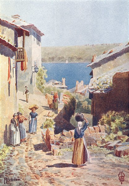 Associate Product SPAIN. Rivadeo. An Approach to Harbour 1906 old antique vintage print picture