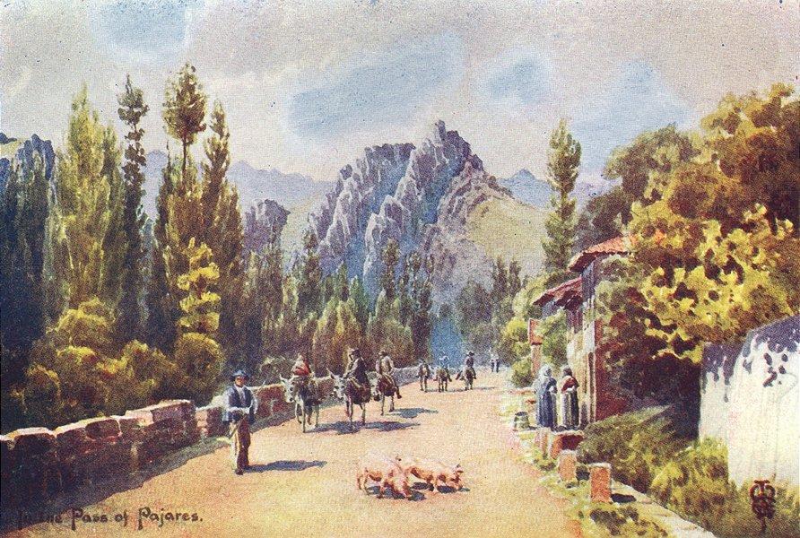 Associate Product SPAIN. Pass of Pajares. Pola de Gordon 1906 old antique vintage print picture