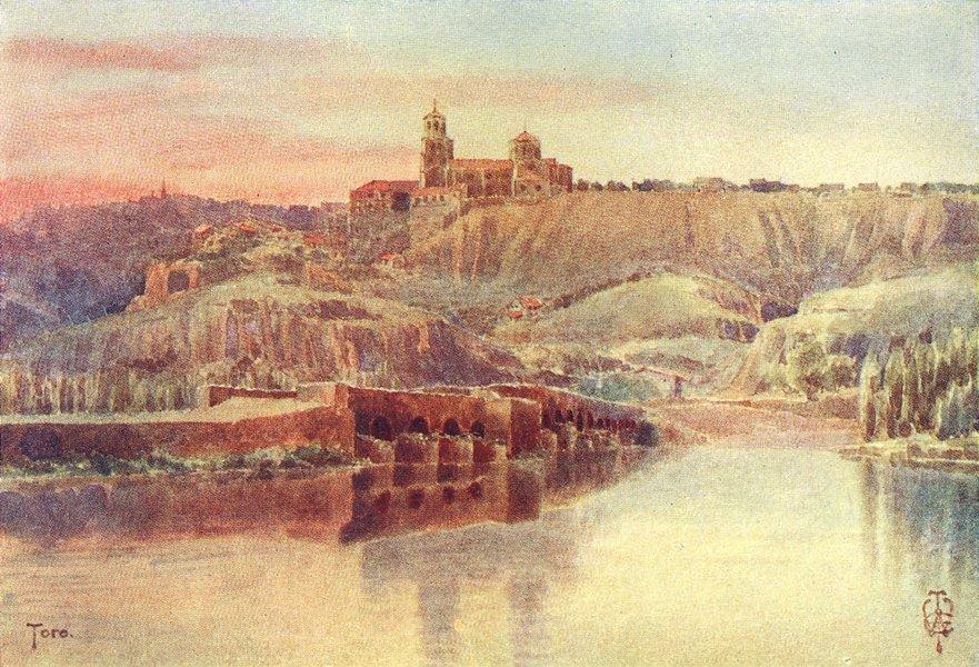 Associate Product SPAIN. Toro. banks of Duero 1906 old antique vintage print picture