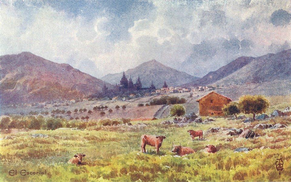 Associate Product SPAIN. Escorial 1906 old antique vintage print picture