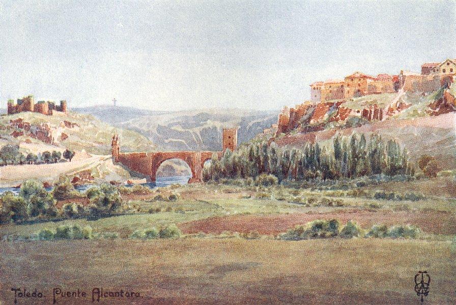 Associate Product SPAIN. Toledo. Bridge of Alcantara, Illescas road 1906 old antique print