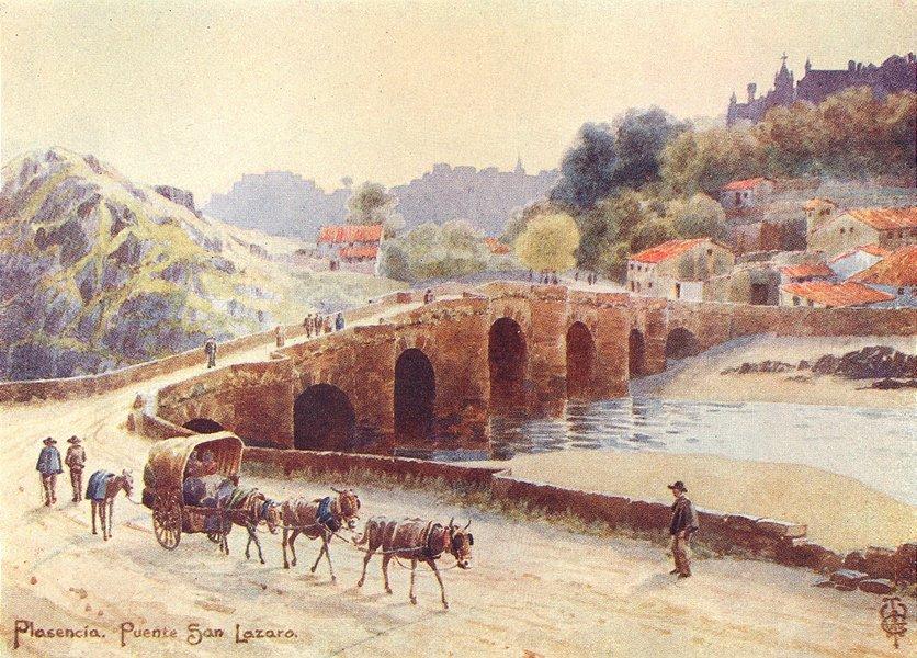 Associate Product SPAIN. Plasencia. Puente San Lazaro 1906 old antique vintage print picture