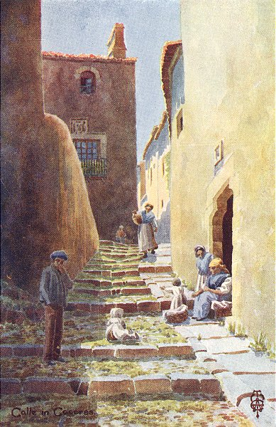 Associate Product SPAIN. Caceres. Calle de Cuesta Aldana 1906 old antique vintage print picture