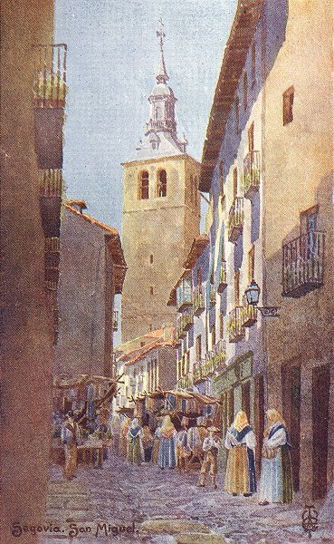 Associate Product SPAIN. Segovia. Church San Miguel 1906 old antique vintage print picture