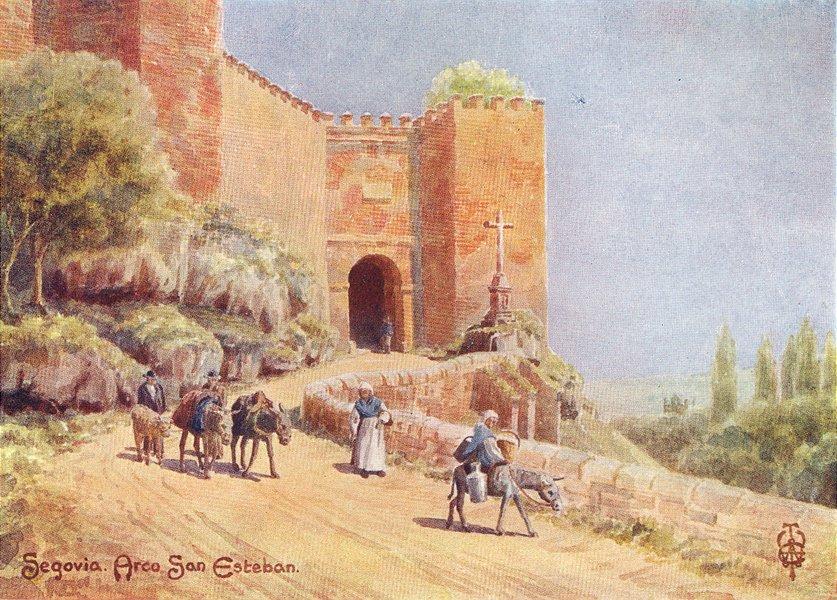 Associate Product SPAIN. Segovia. Arco San Esteban 1906 old antique vintage print picture