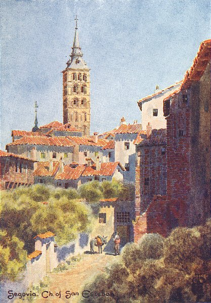 Associate Product SPAIN. Segovia. Church San Esteban 1906 old antique vintage print picture