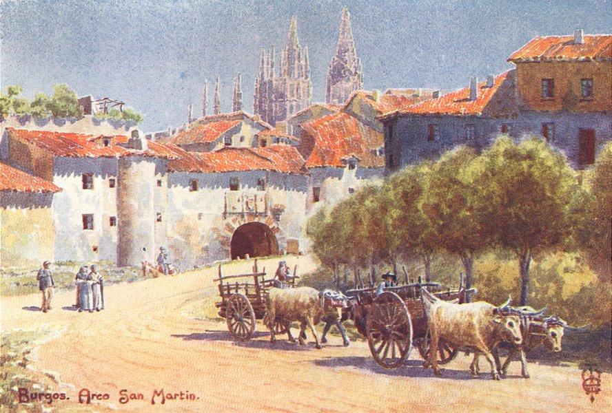 SPAIN. Burgos. Arco San Martin 1906 old antique vintage print picture