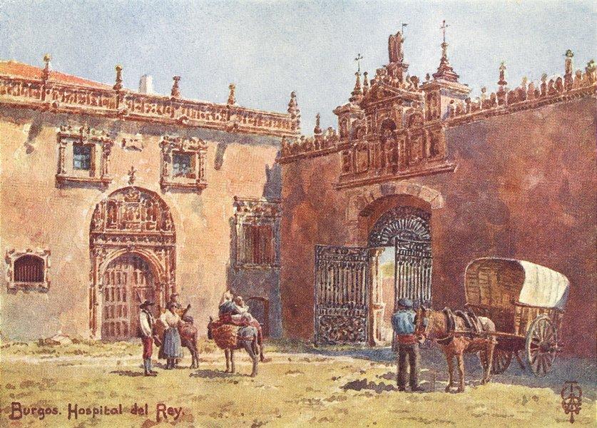 Associate Product SPAIN. Burgos. Hospital del Rey 1906 old antique vintage print picture