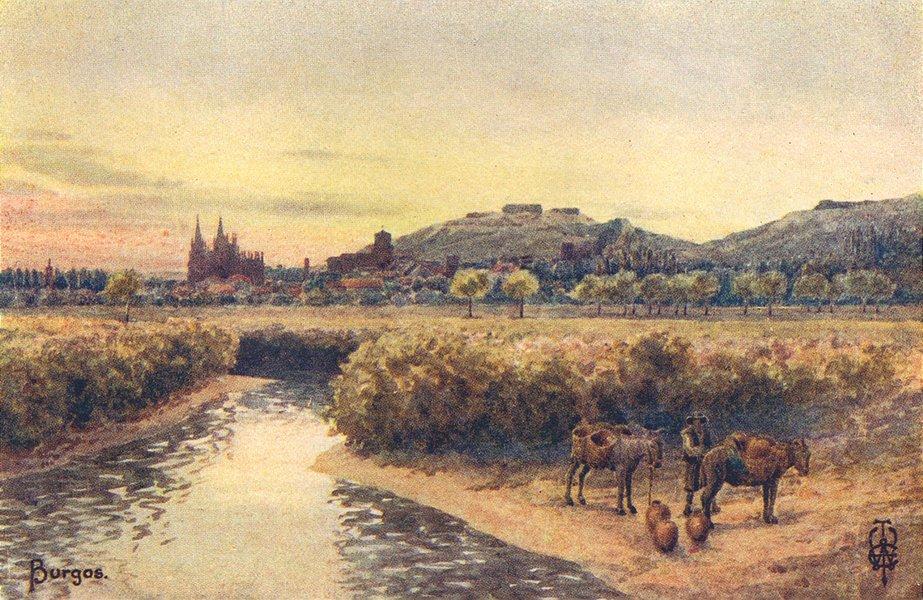 Associate Product SPAIN. Burgos 1906 old antique vintage print picture