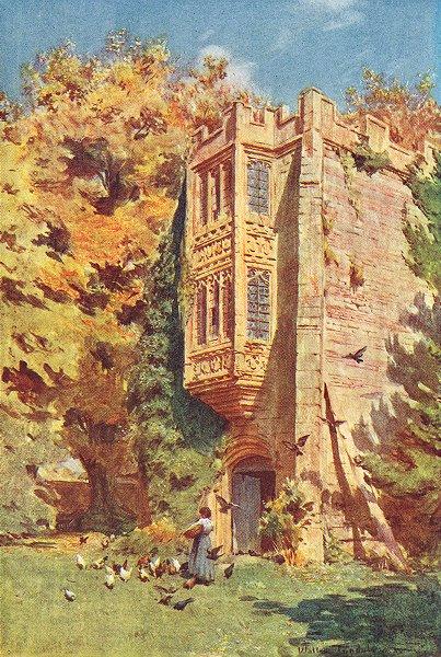 Associate Product CERNE ABBAS. Gateway Abbot's Cernal. Novels 1906 old antique print picture