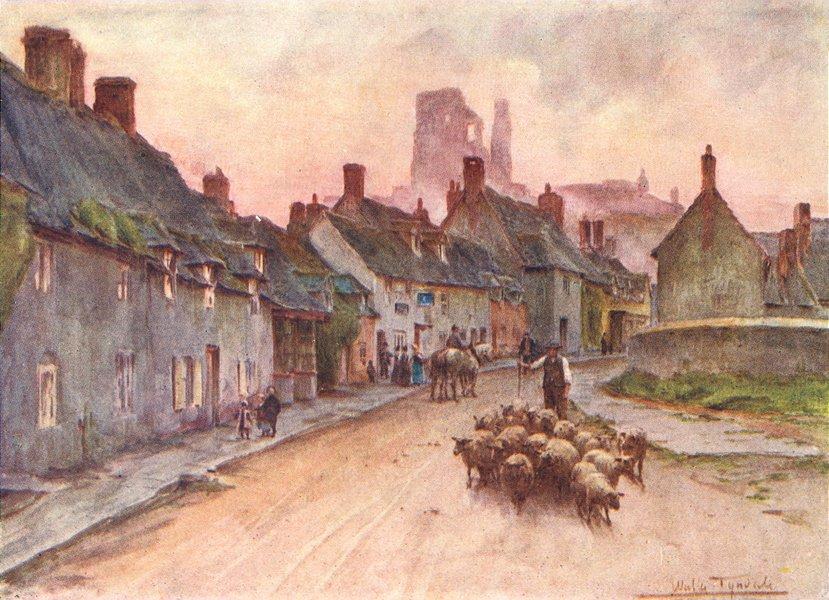 Associate Product CORFE. (Corvesgate)Castle W St Hand Ethelberta 1906 old antique print picture