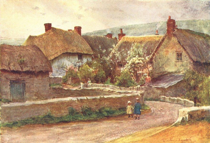 Associate Product HANTS. A Wessex village 1906 old antique vintage print picture