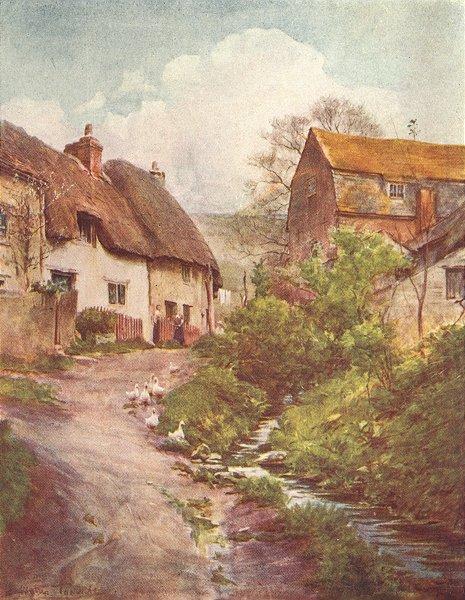 Associate Product SUTTON. Mill Cottages Poyntz Overcome Trumpet-Maj 1906 old antique print