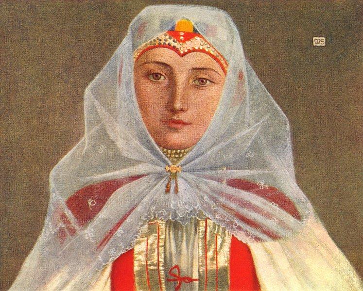 Associate Product ROMANIA. Schoolmaster's wife, Zsdjar 1909 old antique vintage print picture