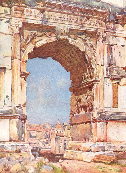 Associate Product ROME. Arch of Titus 1905 old antique vintage print picture