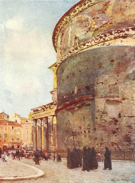 Associate Product BUILDINGS. Pantheon, a Flank view 1905 old antique vintage print picture