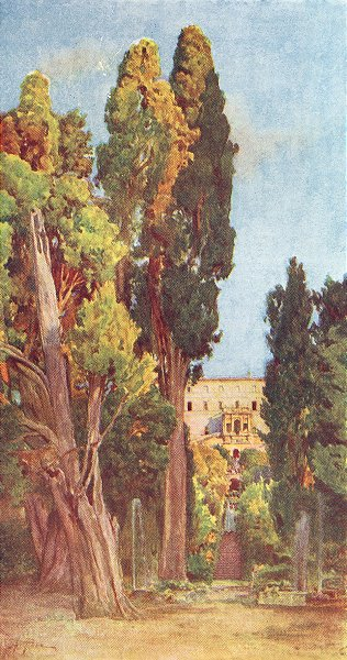 Associate Product ROME. Villa D'Este, Tivoli 1905 old antique vintage print picture