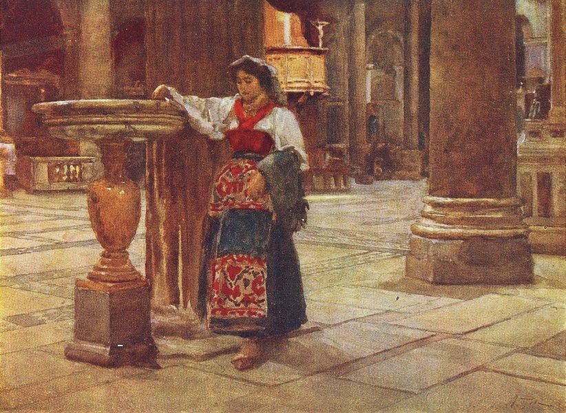 ROME. Church Aracoeli 1905 old antique vintage print picture