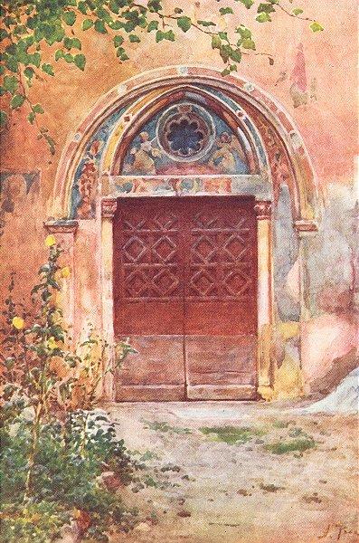 Associate Product SAGRO SPECO. Door Monastery Benedict Subiaco 1905 old antique print picture