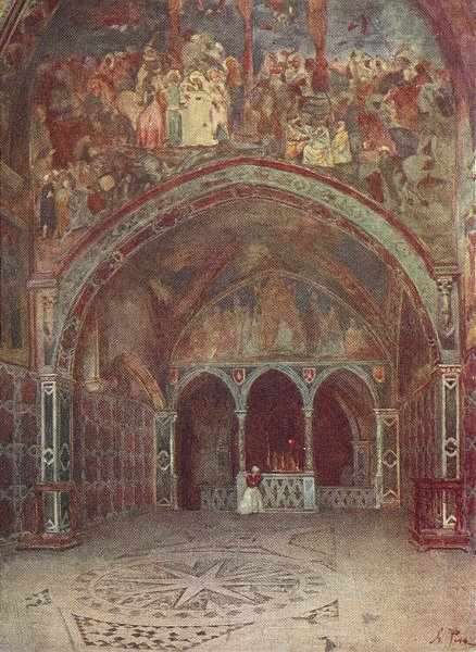 Associate Product SAN LORENZO LORICATO. Chapel Benedict's Subiaco 1905 old antique print picture