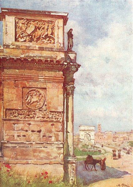 Associate Product ROME. Arch of Titus Constantine 1905 old antique vintage print picture