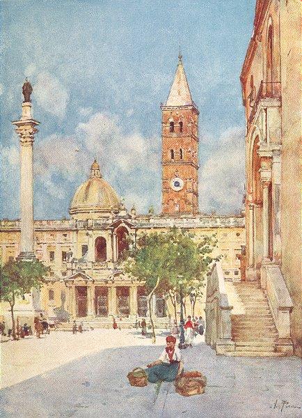 Associate Product ROME. Sta Maria Maggiore 1905 old antique vintage print picture