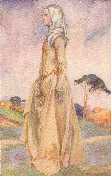 Associate Product COSTUME. A Woman of reign Henry II 1154-1189 1926 old vintage print picture