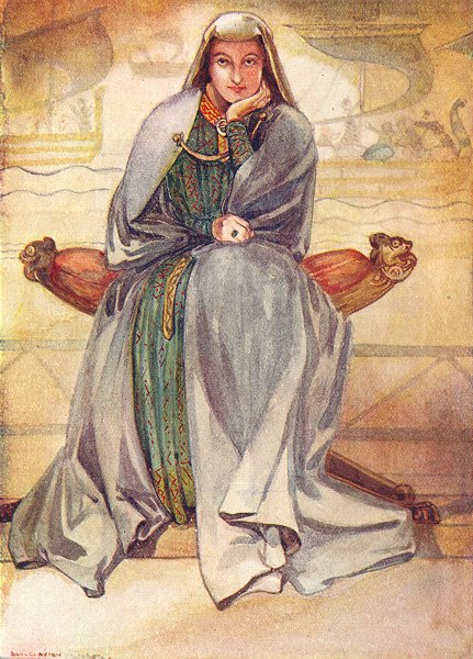 Associate Product COSTUME. A Woman of reign Richard I 1189-1199 1926 old vintage print picture