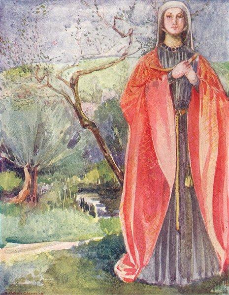 Associate Product COSTUME. A Woman of reign John 1199-1216 1926 old vintage print picture