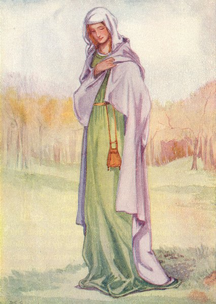Associate Product COSTUME. A Woman of reign Henry III 1216-1272 1926 old vintage print picture