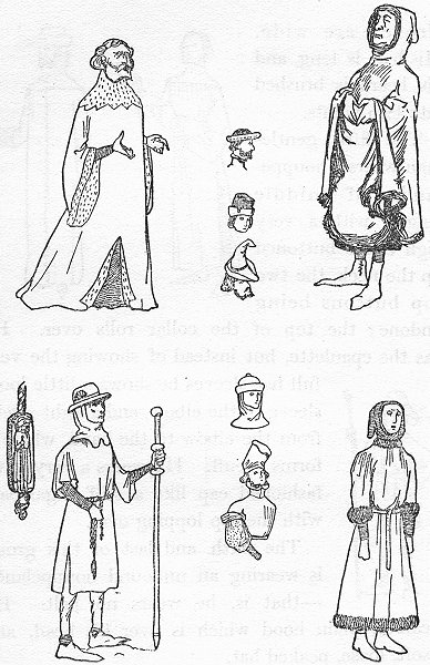 Associate Product ENGLAND. Costumes of reign Henry IV 1926 old vintage print picture